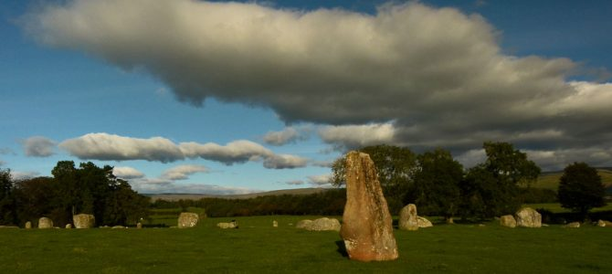 Long Meg in the afternoon
